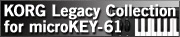 KORG Legacy Collection for microKEY 61